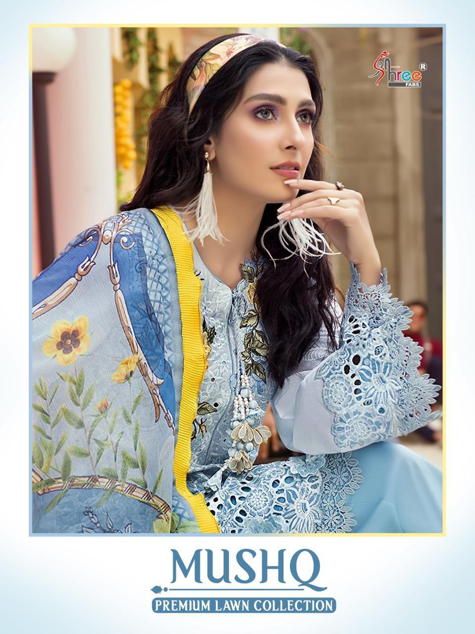 Shree Fab Mushq Premium Lawan Collection Decent Embroidary Look Salwar Suit Catalog