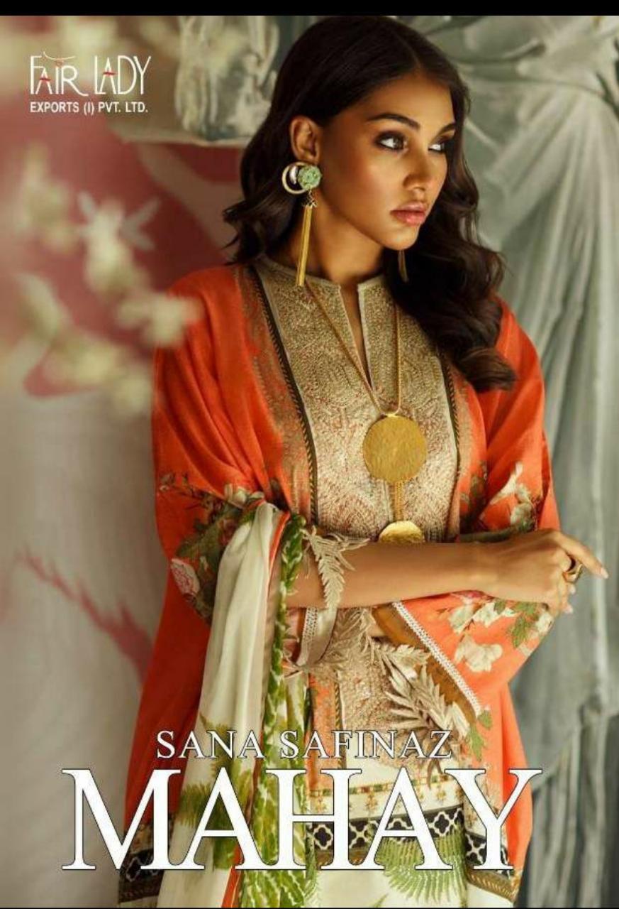 Fairlady Sana Safinaz Mahay Chiffon Duppata Salwar Suit Catalog