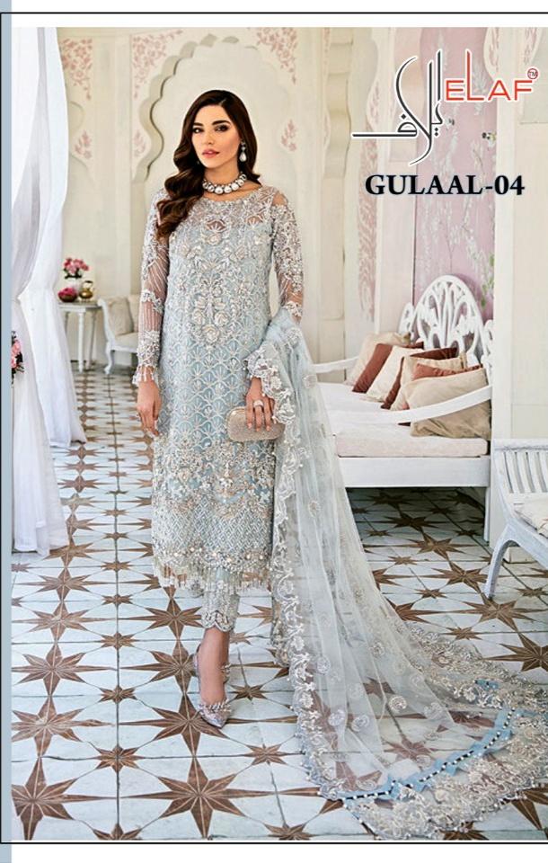 Elaf Gulaal-4 Series 114 Georgette Attractive Look Salwar Suit
