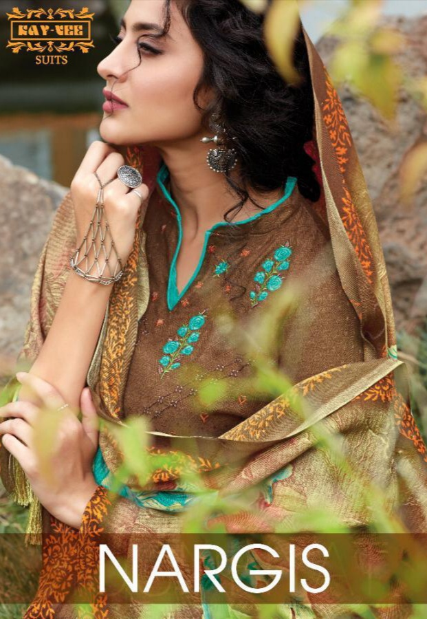 Kay Vee Suits Nargis Series 1001-1008 Pure Pashmina Printed Digital Suit