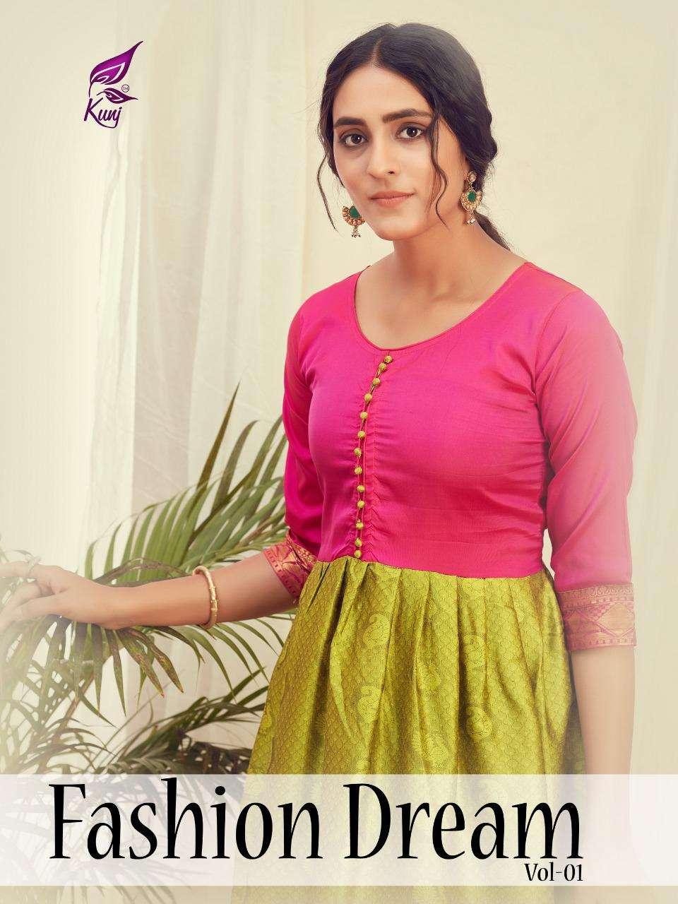 Kunj Fashion Dream Vol-1 Series 101-108 Heavy Silk Kurti
