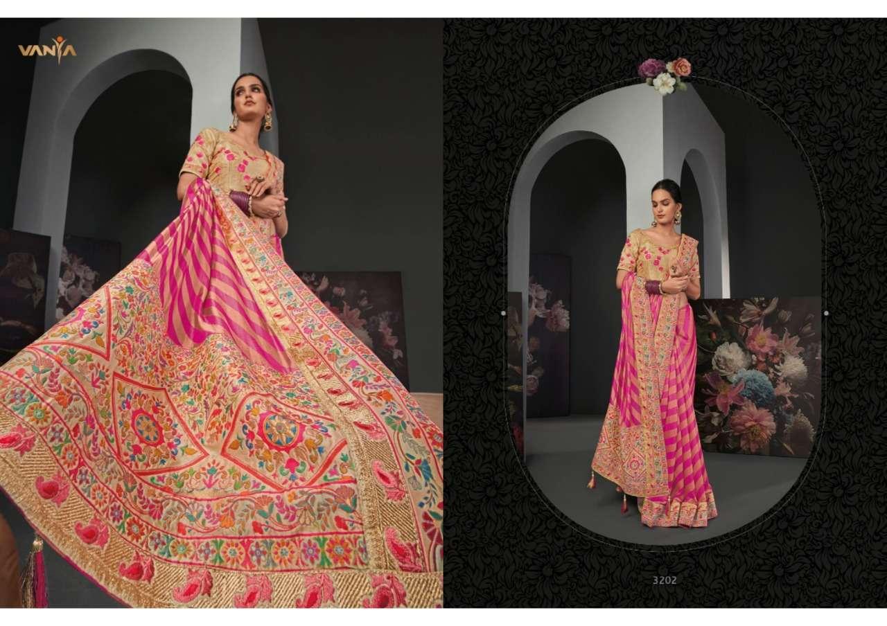 Vanya Vol 22 Series 3201-3209 Exclusive Embroidered Sarees