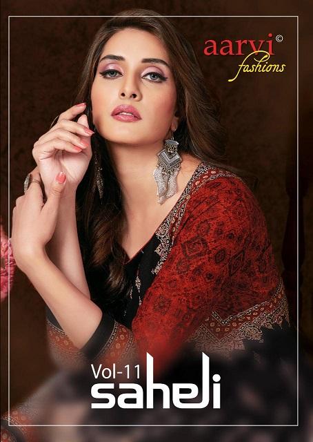 Aarvi Saheli Vol-11 Series 2101-2115 Heavy Cotton Print Unstitched Suit