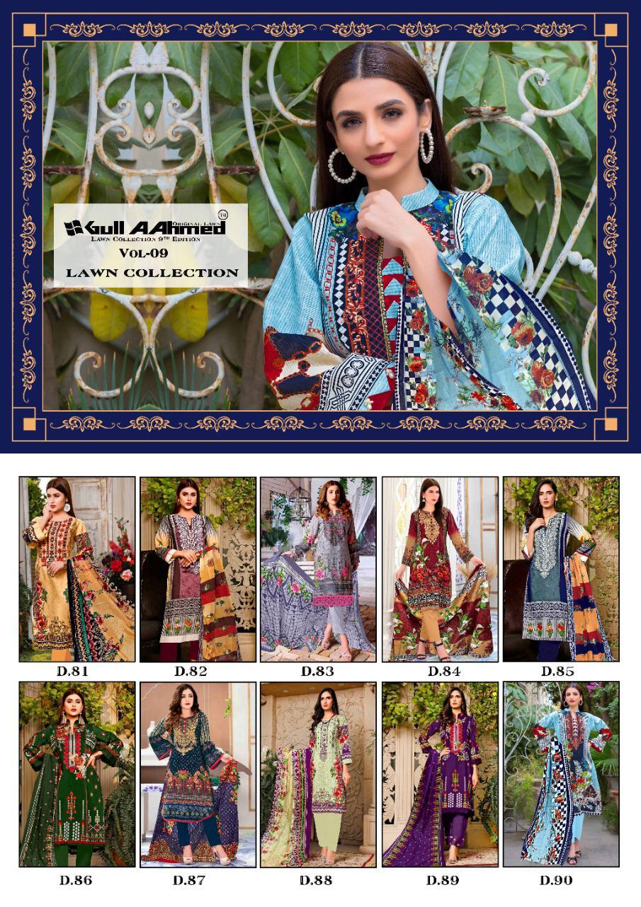 Gulahmed Vol 09 Series 81-90 Pure Lawn Pakistani Suit