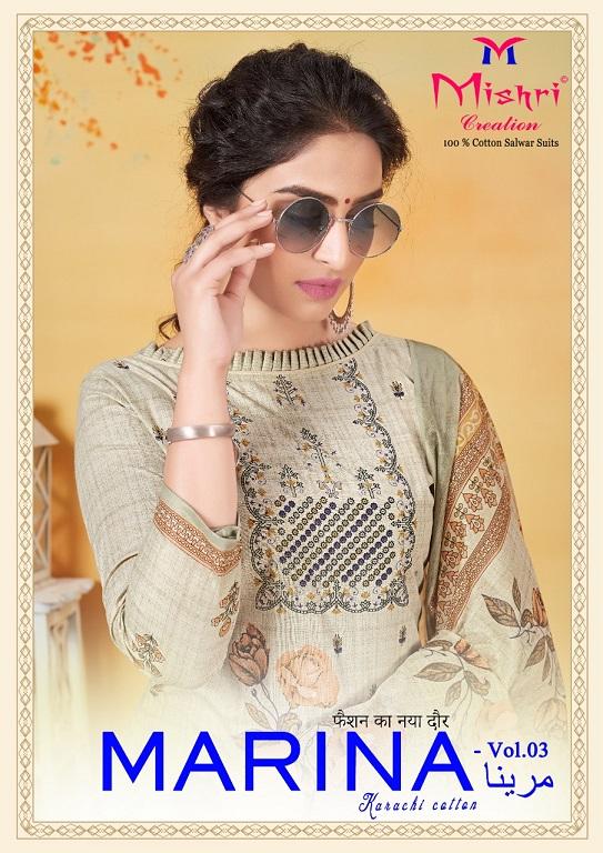Mishri Marina Vol-3 Pure Cotton Suit
