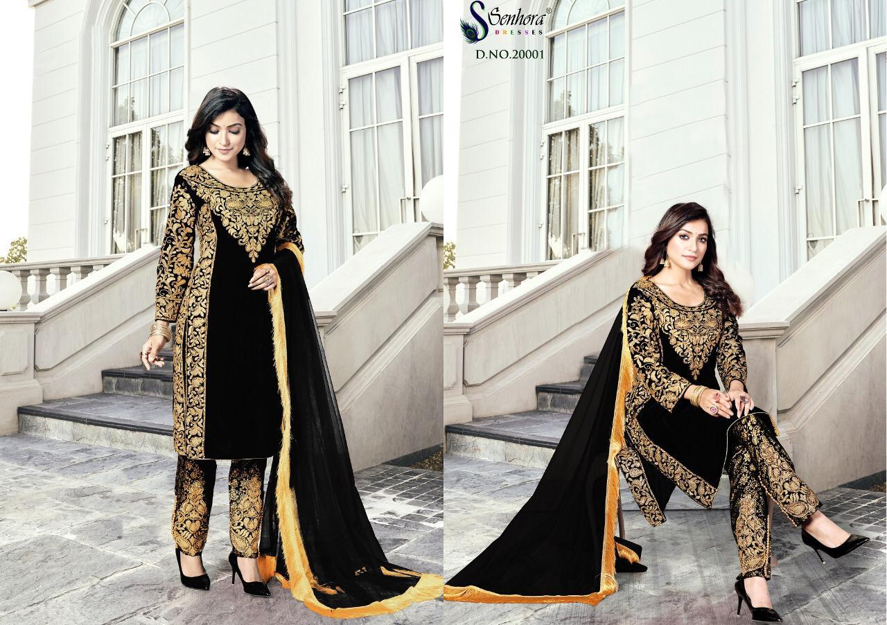 Senhora Dresses Goldy Designer Heavy 9000 Velvet Suit