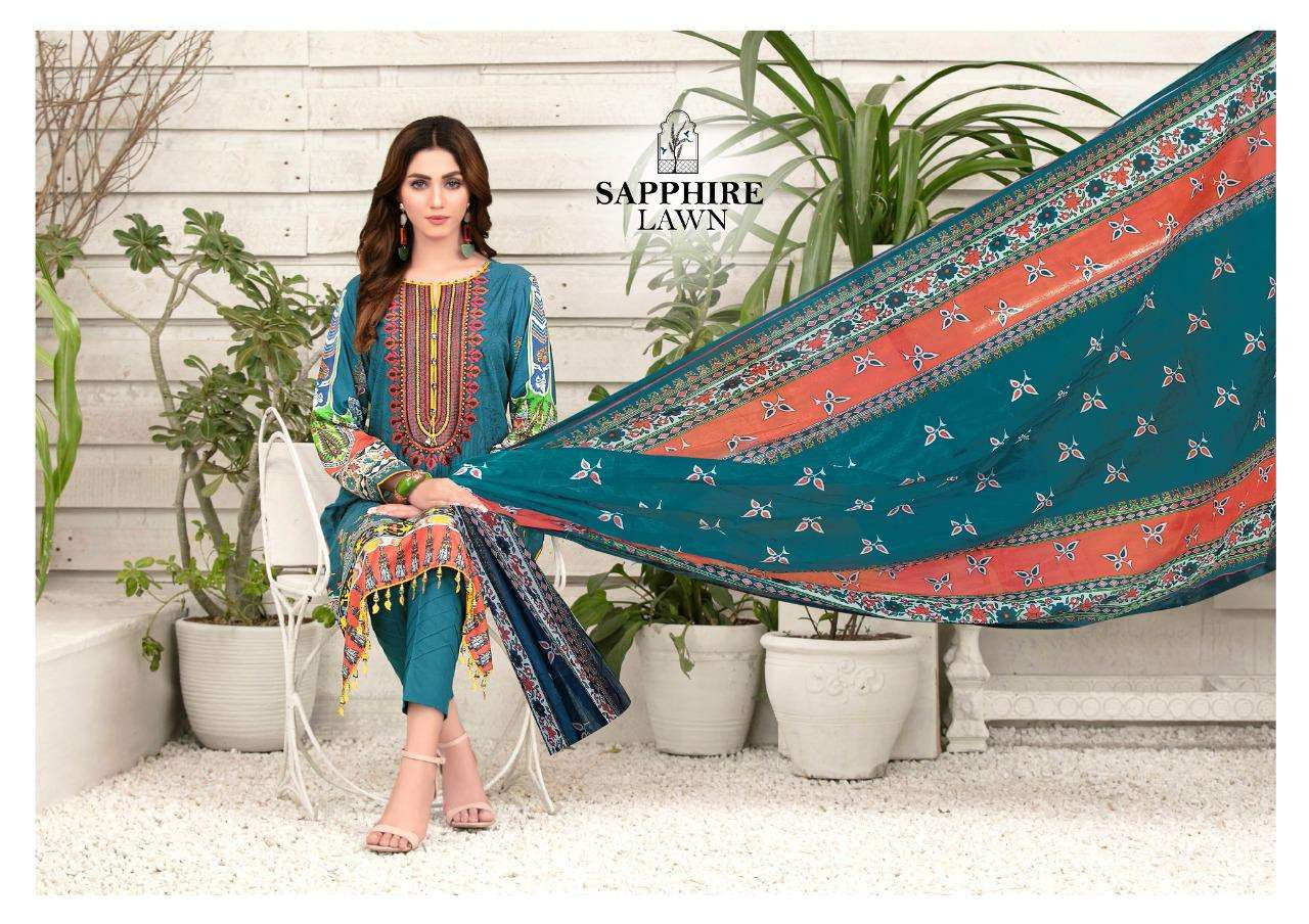 Sapphire Lawn Vol 2 Lawn Printed Ladies Suits Catalog At Lowest Price Online