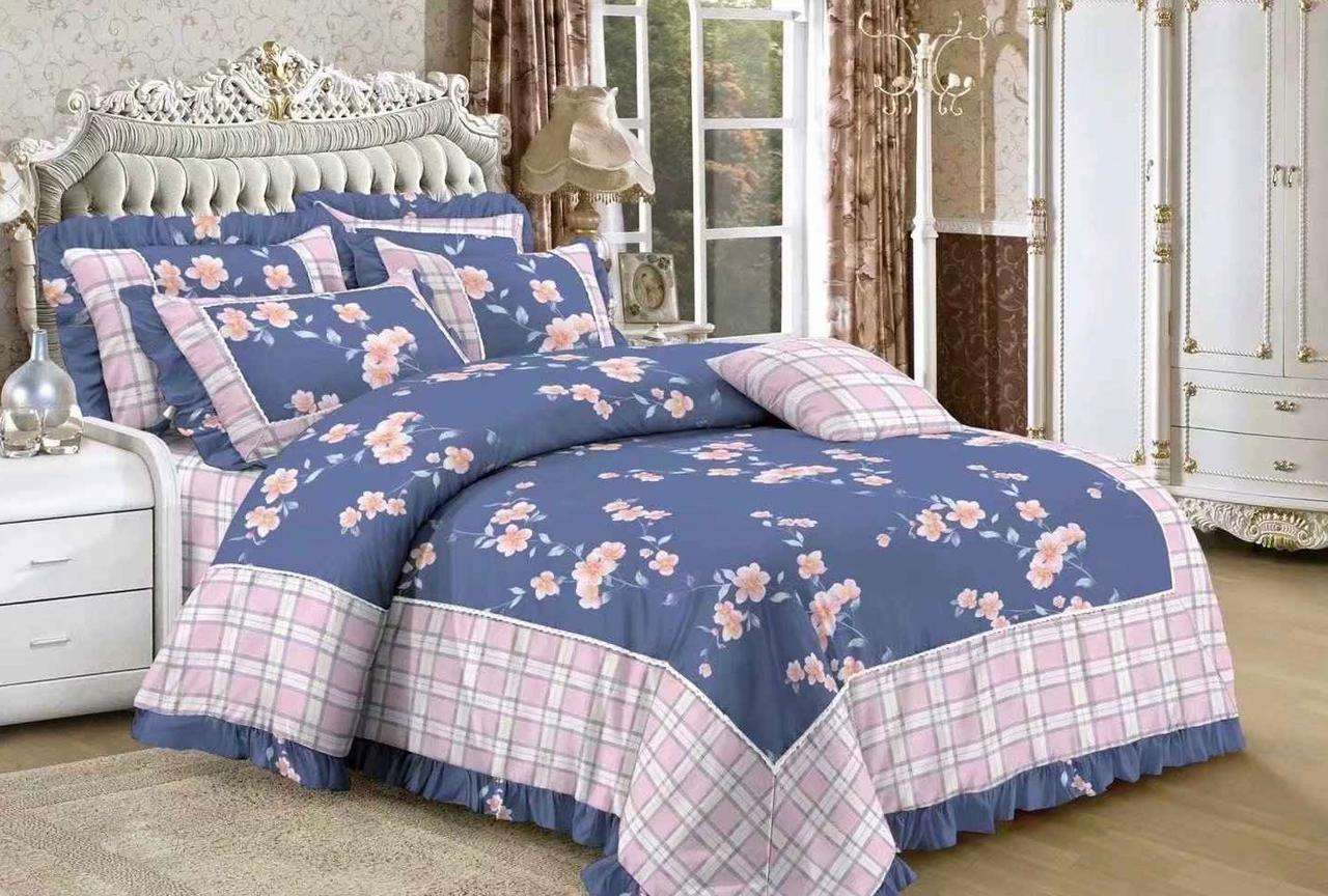British Country King Size Bedsheets With Comforter And 2 Pillow Cover Set Wholesale Shop