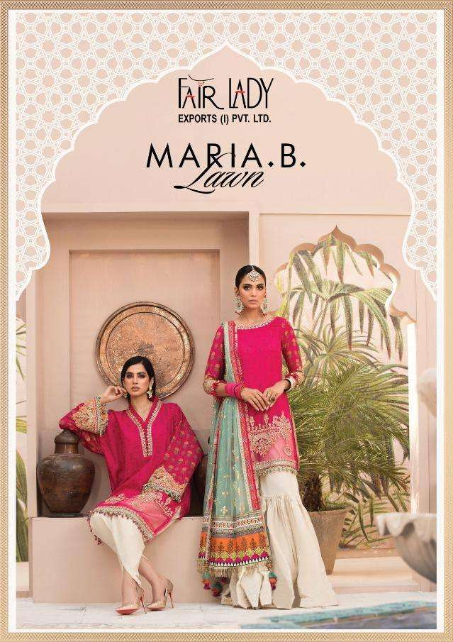 Fairlady Maria B Lawn Series 13001-13007 Cotton Pakistani Salwar Kameez