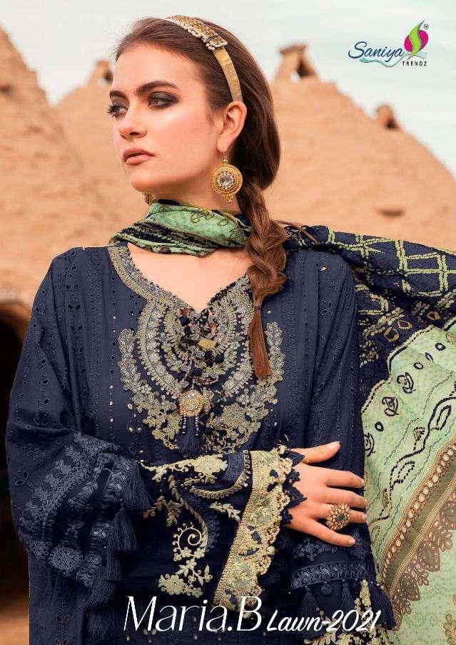 Saniya Maria B Lawn 2021 Series 201 Cambric Cotton Pakistani Dresses