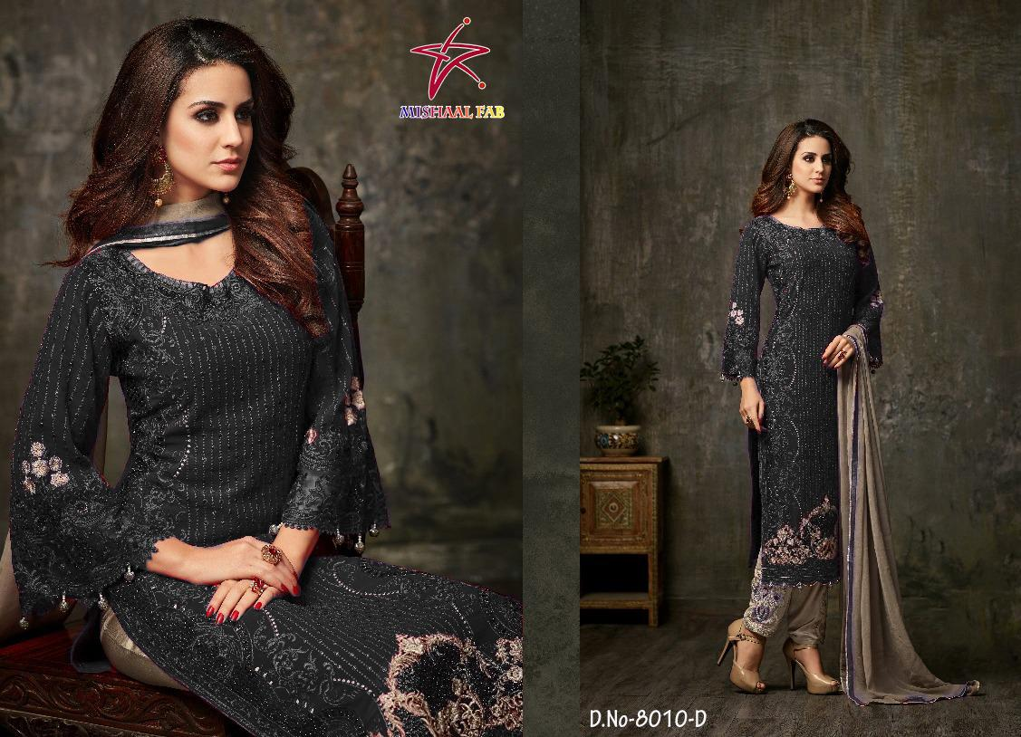 Mishaal Fab  8010a-8010g  Designer Heavy Georgette Suit
