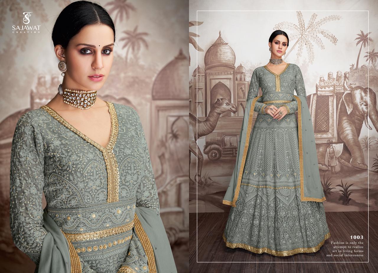 Sajawat Creations Meraki-04 Designer Heavy Faux Georgette Suit