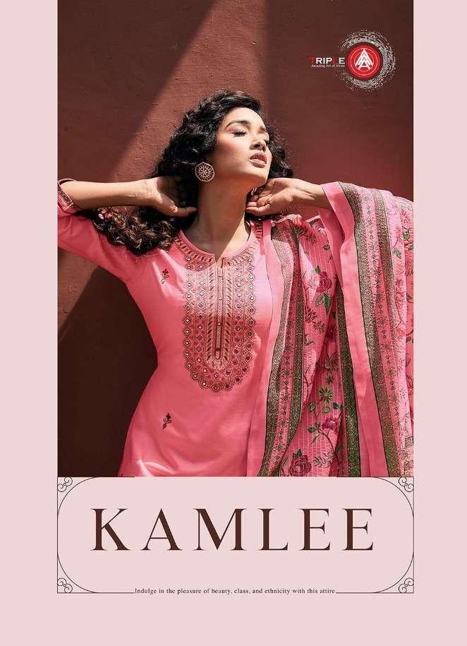 Triple Aaa Kamlee Series 671-676 Jam Silk Embroidery Suit