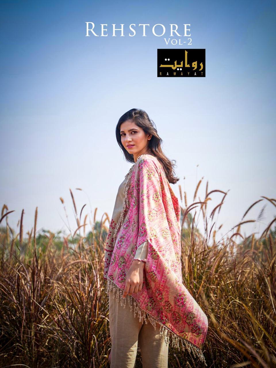Rawayat Rehstore Vol-2 Series 15003-15006 Jam Silk Self Embroidery Suit