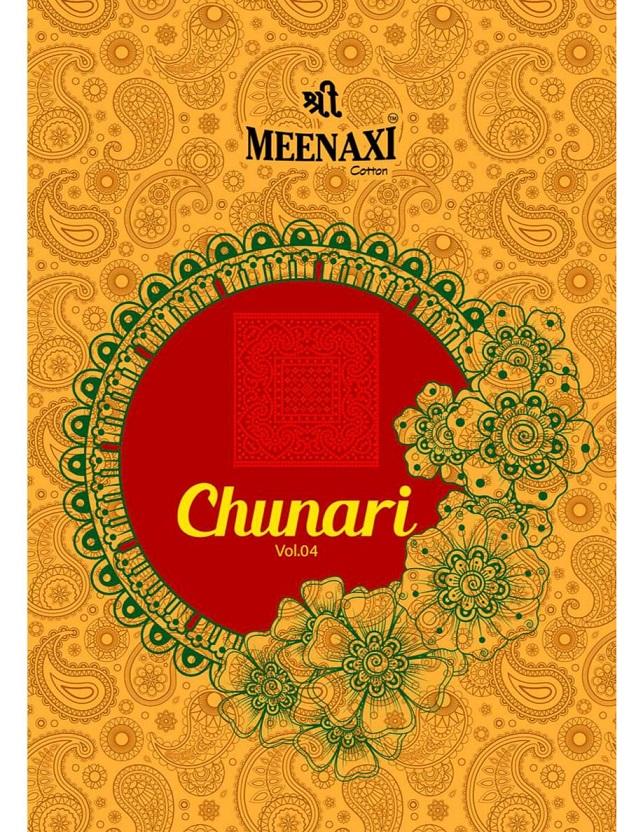 Meenaxi Chunari Vol-4 Series 4001-4010 Pure Cotton Suit