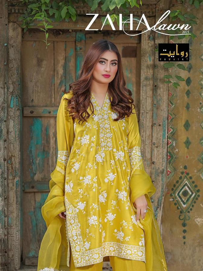 Rawayat Zaha Series 29007-29011 Pure Cotton Pakistani Suit