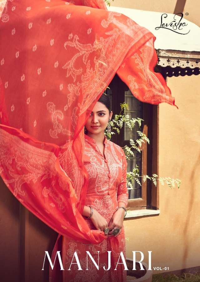 Levisha Manjari Series 113-120 Cambric Cotton Bandhani Suit