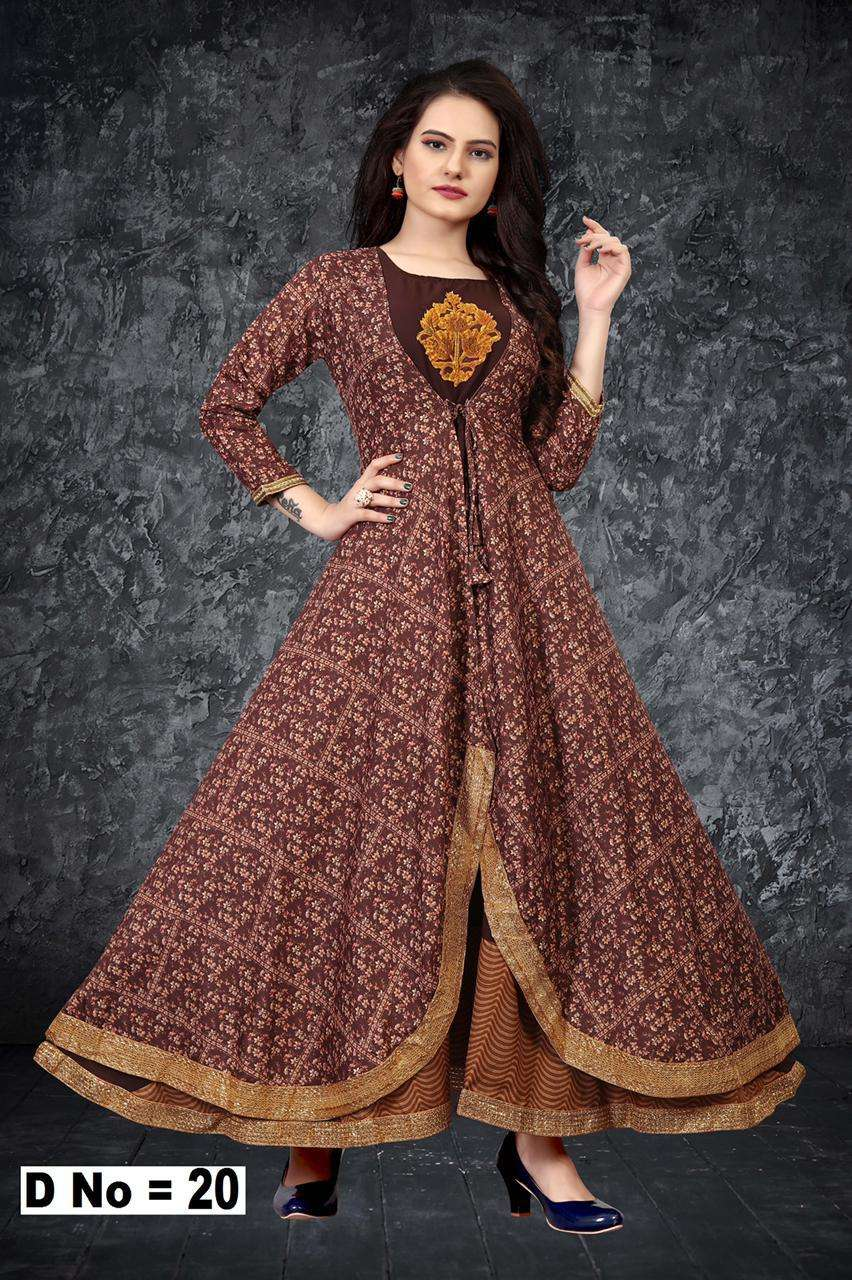 Peafowl Vol 69 Series 12-20 Maslin Silk Long Gown Collection