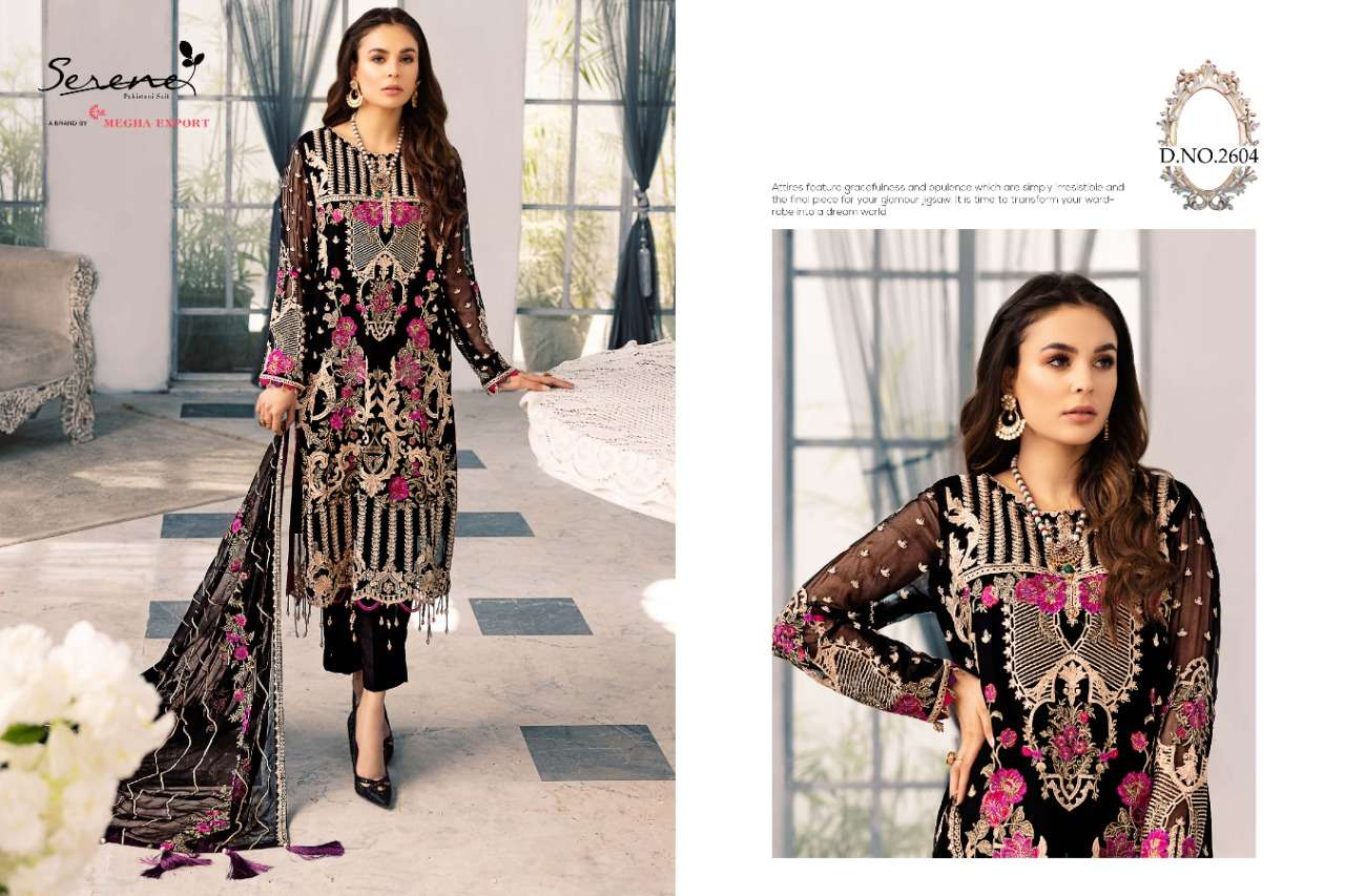 Adan Libas By Serene 2601 To 2604 Series Faux Georgette Embroidered Dresses At Wholesale Price
