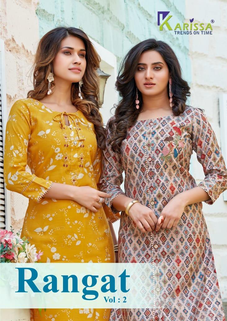 Karissa Rangat Vol-2 Series 1001-1004 Heavy Chanderi Modal Silk Kurti
