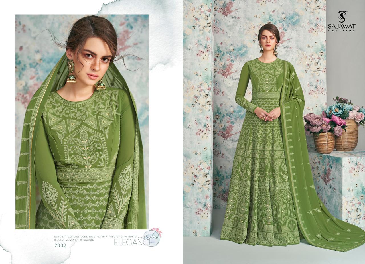 Sajawat Creation Meraki Vol-5 Nx Series 2002-2005 Georgette Lucknowi Suit
