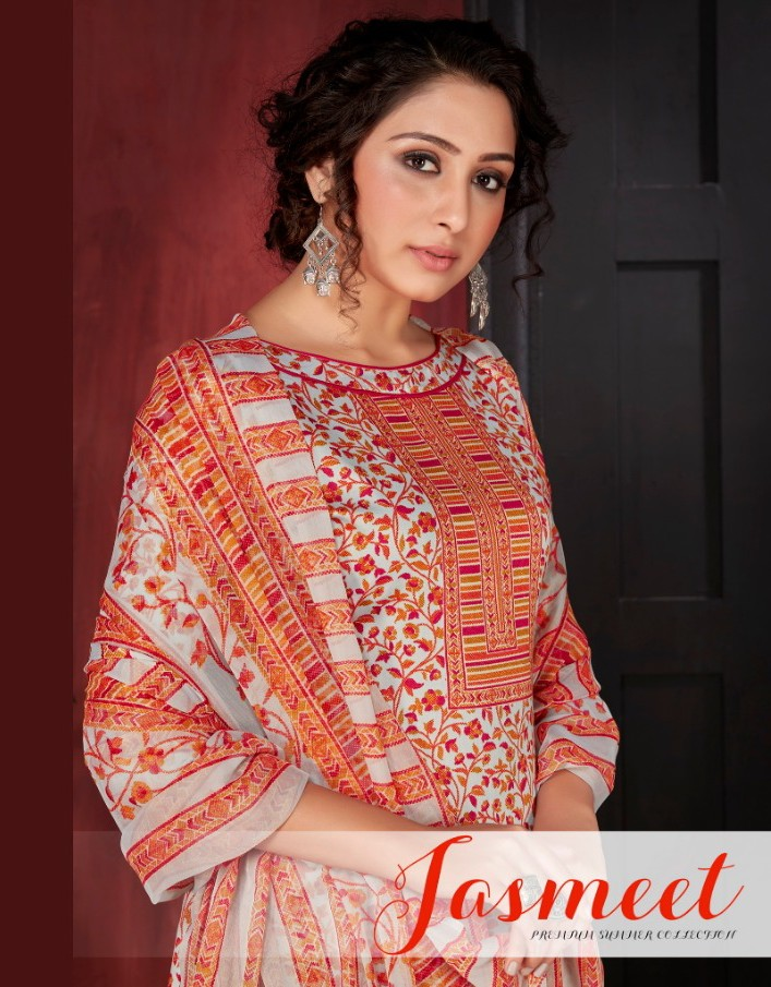 Siyona Jasmeet Series 1001-1008 Pure Jam Silk Cotton Digital Print Suit