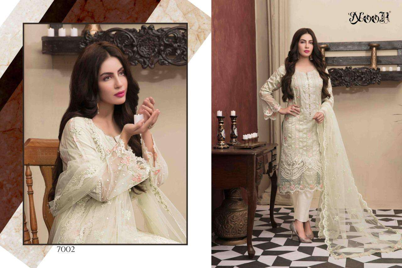 Noor Tawakkal Series 7002-7006 Pure Cotton Embroidery Dresses