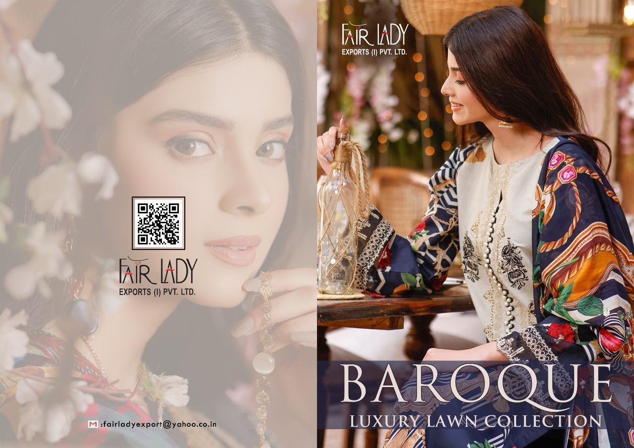 Fairlady Baroque Luxury Lawn Collection Series 19001-19007 Lawn Cotton Suit