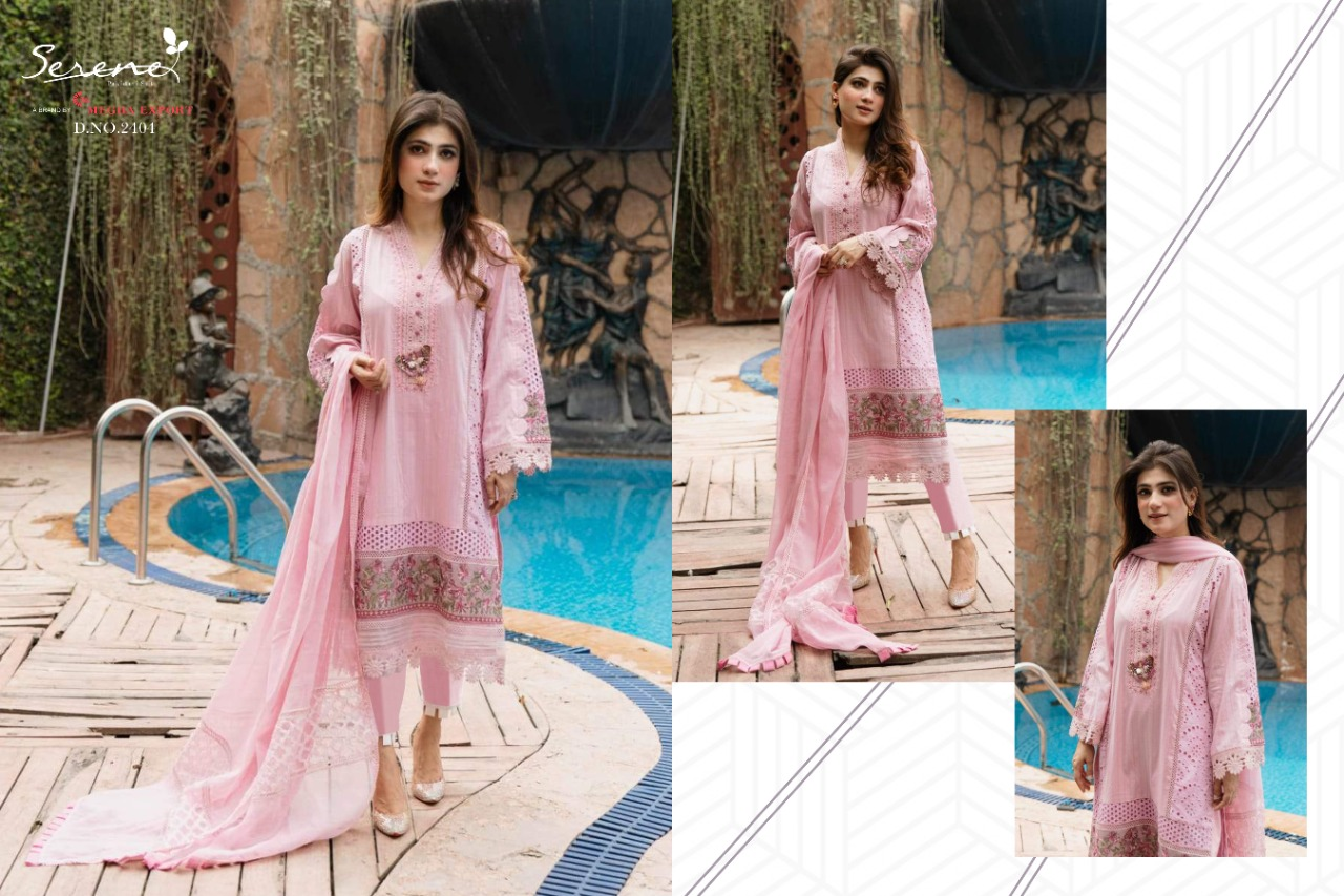 Serene Belle Ame Lawn Cambric Heavy Embroidered Suit