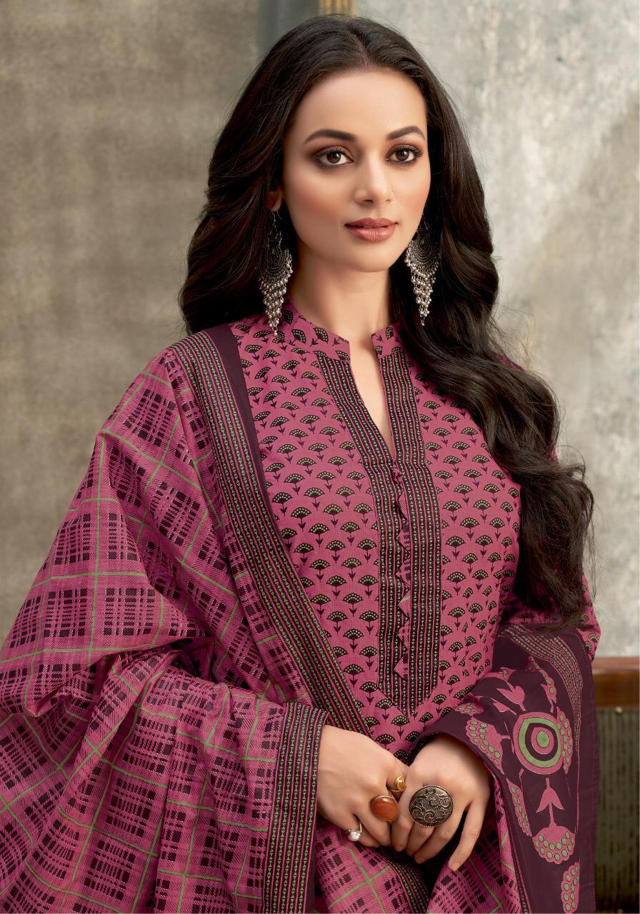 Balaji Kumkum Vol-25 Series 3691-3710 Pure Cotton Suit