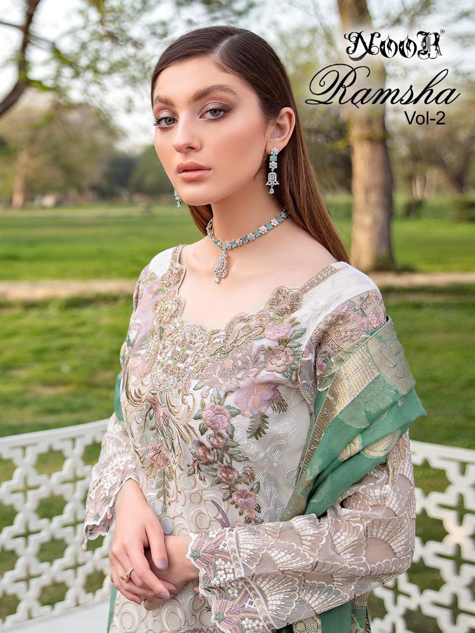 Noor Ramsha Vol-2 Series 801-803 Georgette With Heavy Embroidery Suit