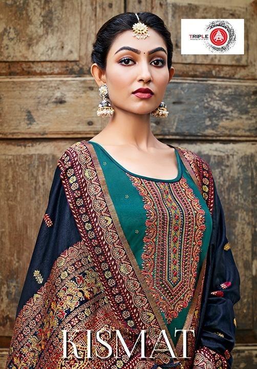 Triple Aaa Kismat Series 641-646 Jam Silk Embroidery Suit