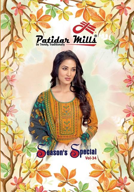 Patidar Seasons Special Vol-34 Series 3401-3416 Pure Cotton Suit