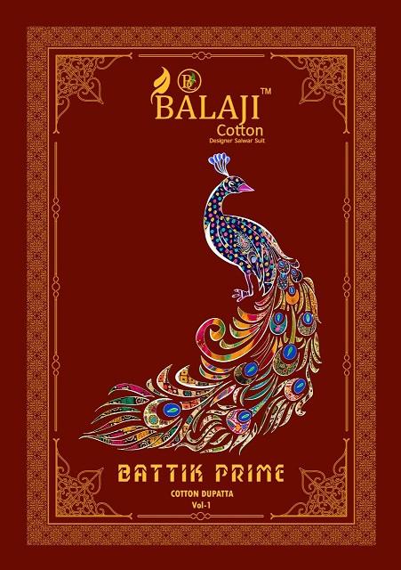 Balaji Batik Prime Vol-1 Series 1001-1012 Pure Cotton Suit
