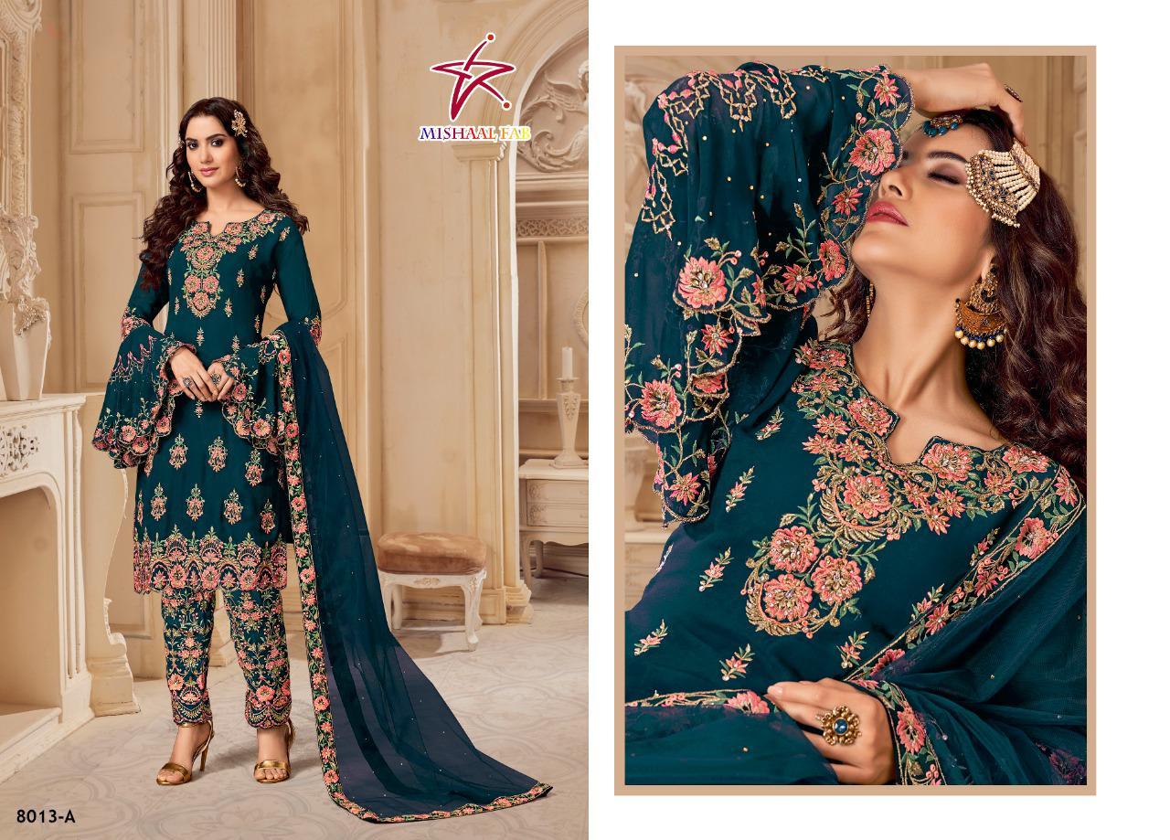 Mishaal Fab 8013 Designer Heavy Georgette Suit