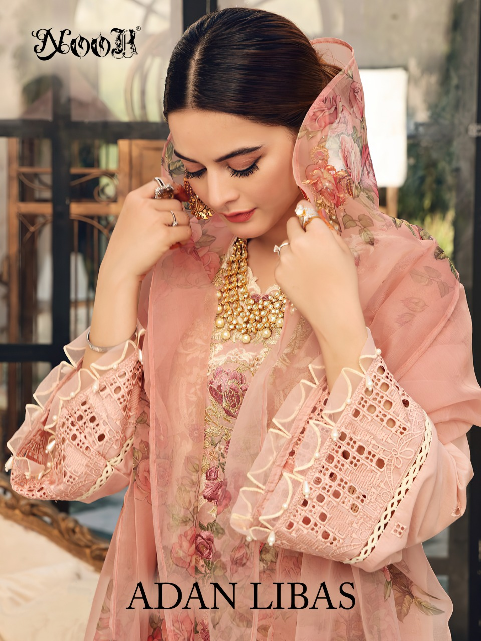 Noor Adan Libas Series 80001-80005 Pure Coitton With Self Embroidery Suit