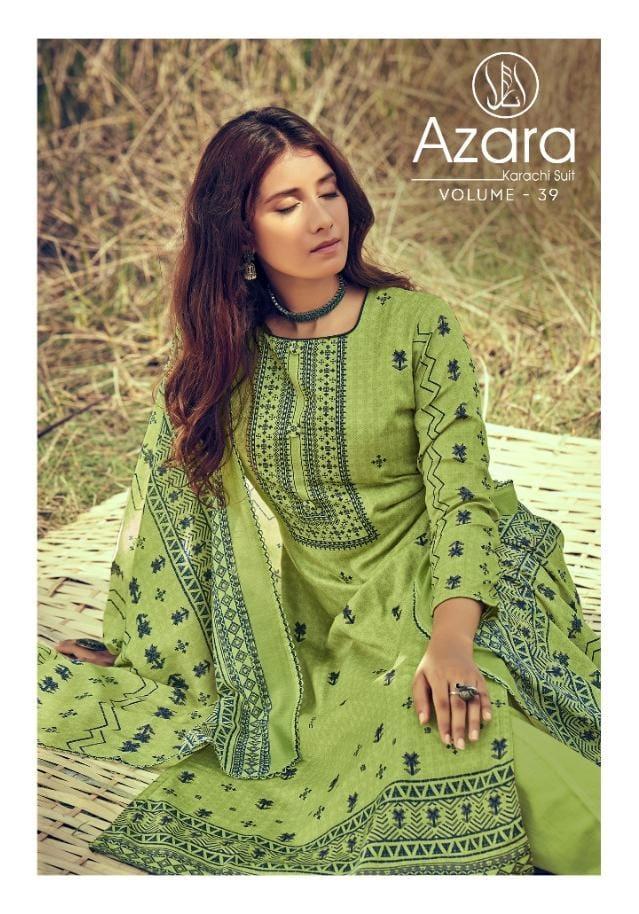 Radhika Azara Vol-39 Series 39001-39008 Poly Jam Cotton Print Suit