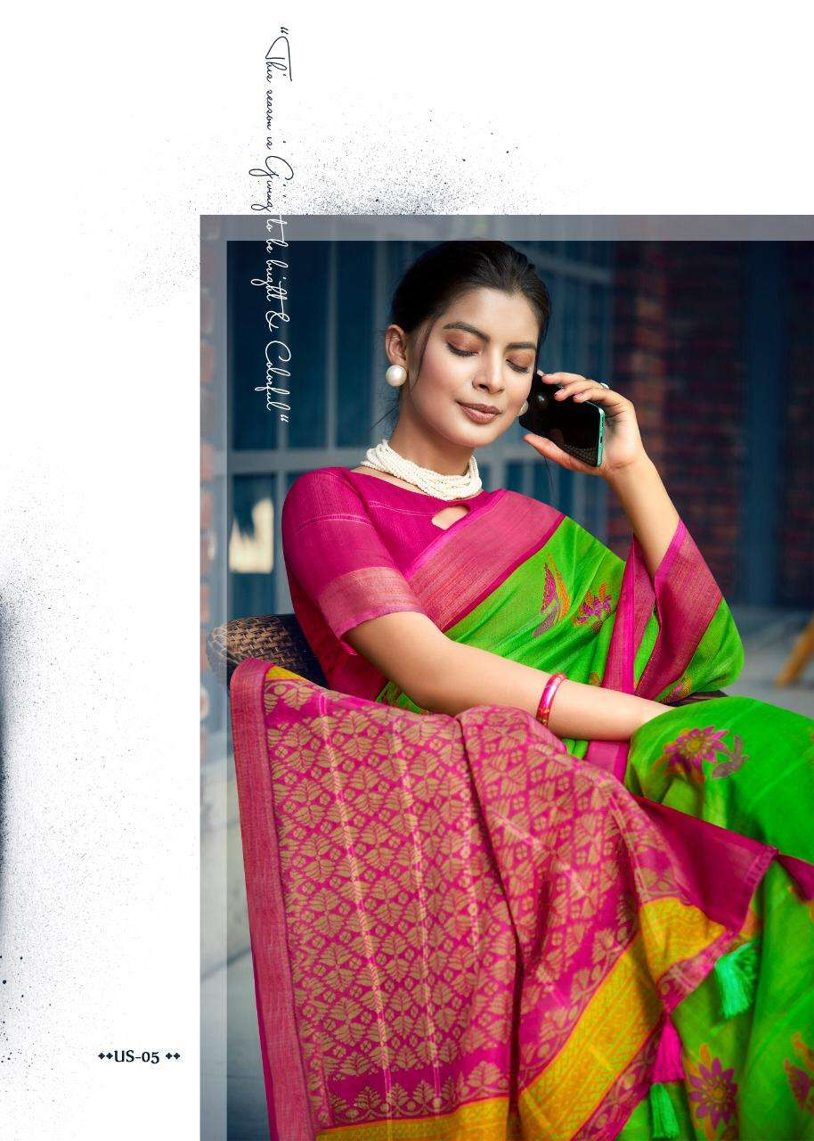 Shreyans Fashion Ugadi Silk Series 01-12 Linen Cotton Saree