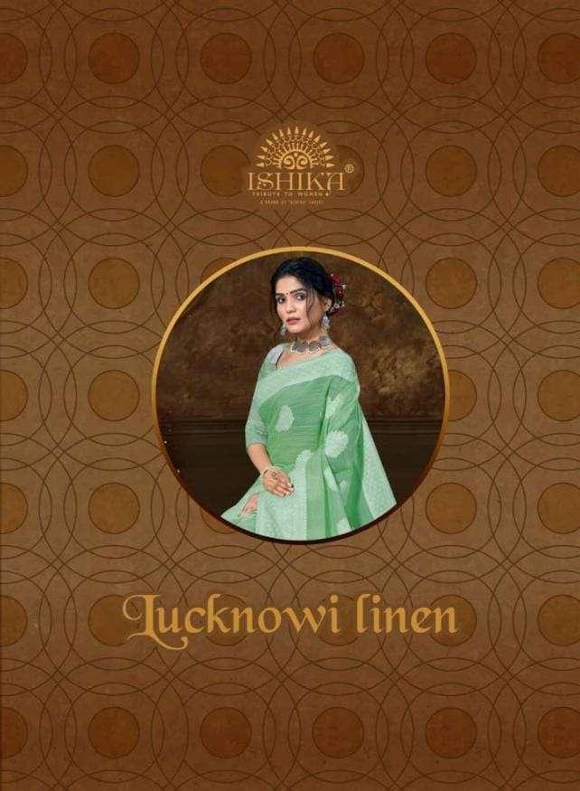 Ishika Lucknowi Linen Traditional Wear Fancy Indian Saree