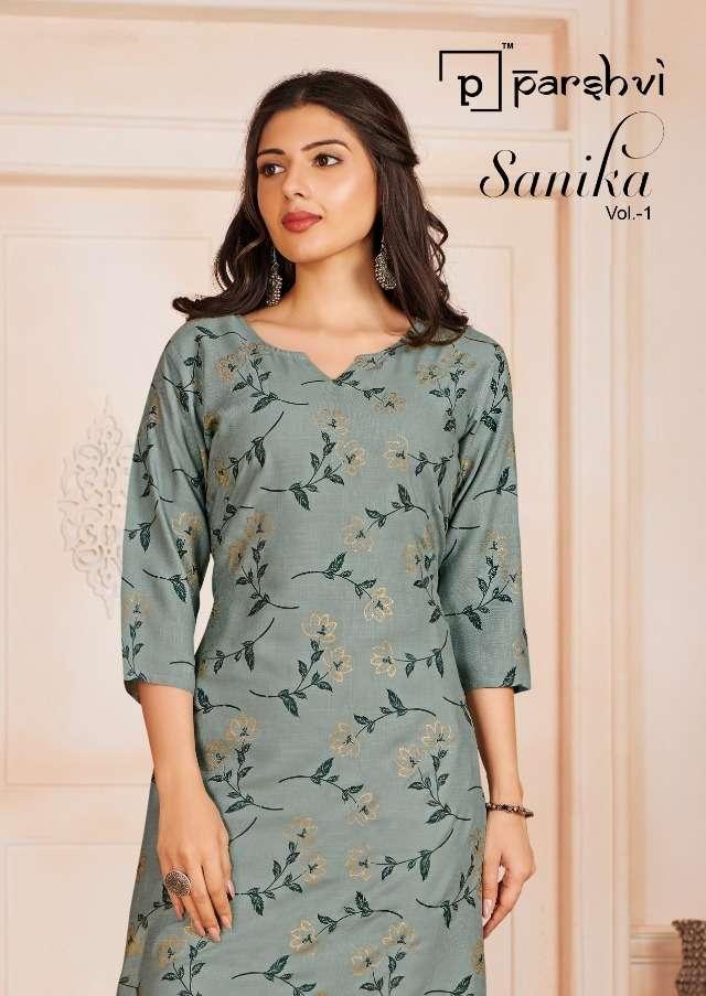 Sanika By Parshvi Rayon Slub Daily Wear Kurtis