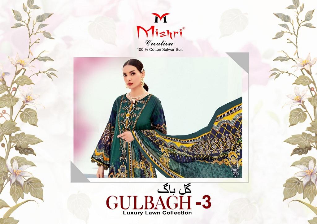 Mishri Gulbagh Vol-3 Heavy Lawn Cotton Suit