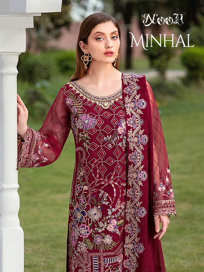 Noor Minhal Georgette With Heavy Embroidery Suit