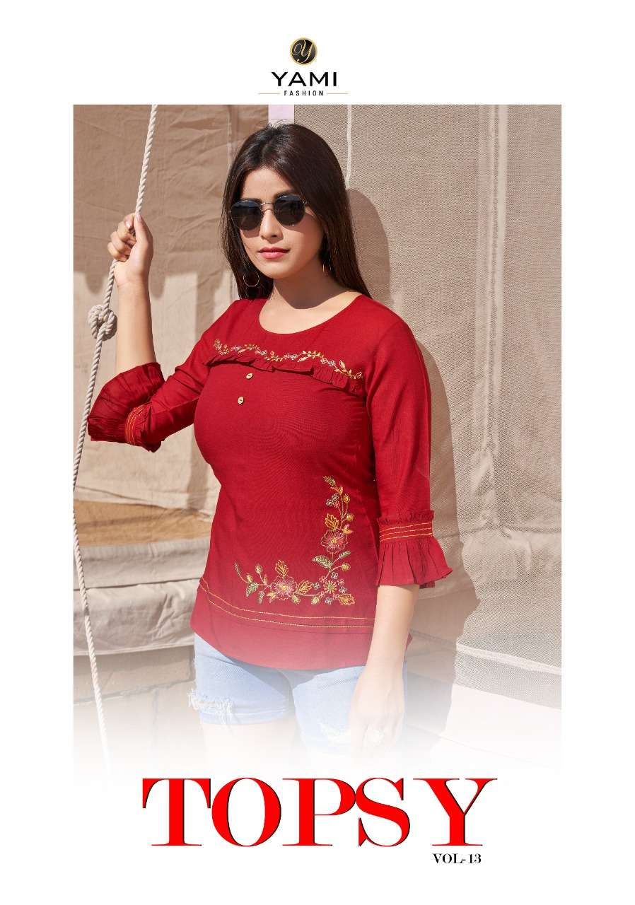 Topsy Vol 13 By Yami Rayon Ladies Short Top Collection