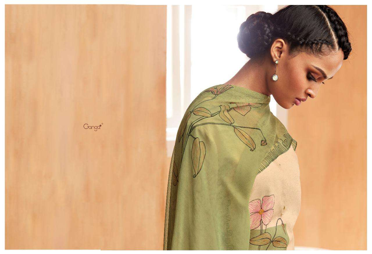 Ethereal By Ganga Premium Print With Handwork Suits Supplier