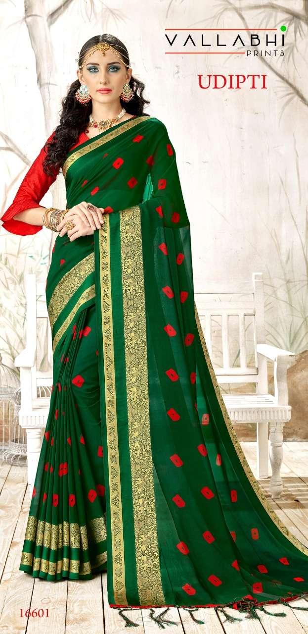 Vallabhi Udipti Georgette Bandhani Fancy Saree