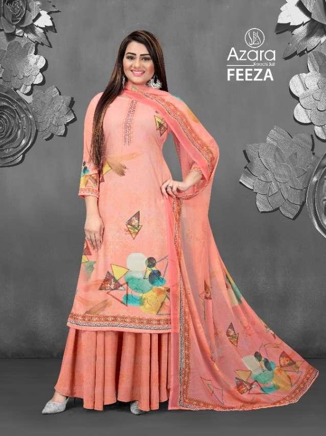 Radhika Azara Feeza Series 1001-1004 Crape Printed Suits