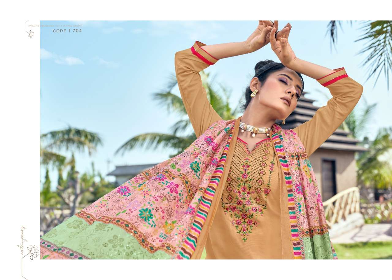 Triple Aaa Kainath Jam Silk Embroidery Suits Collection