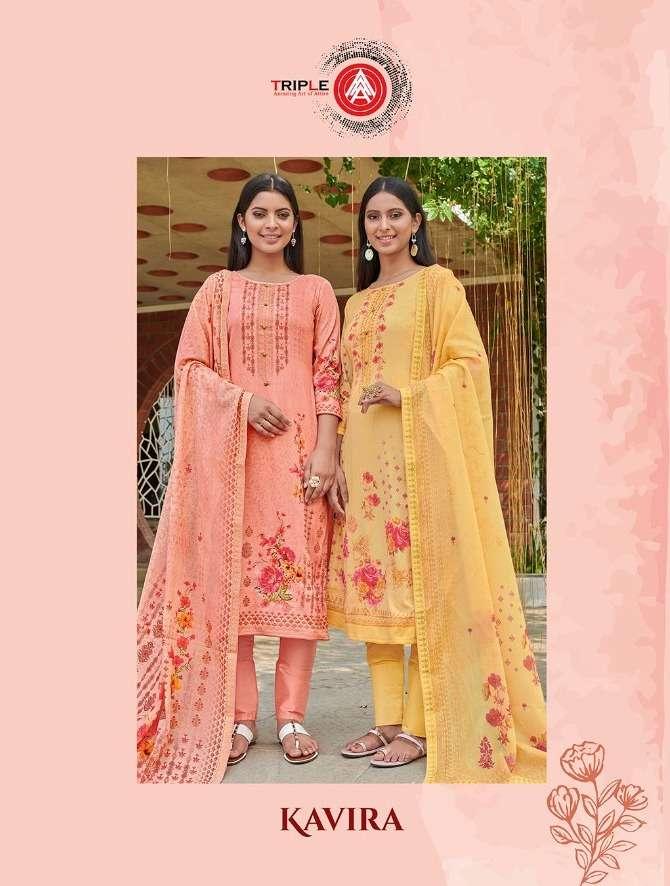Triple Aaa Kavira Series 611-616 Cotton Satin Dress Materials