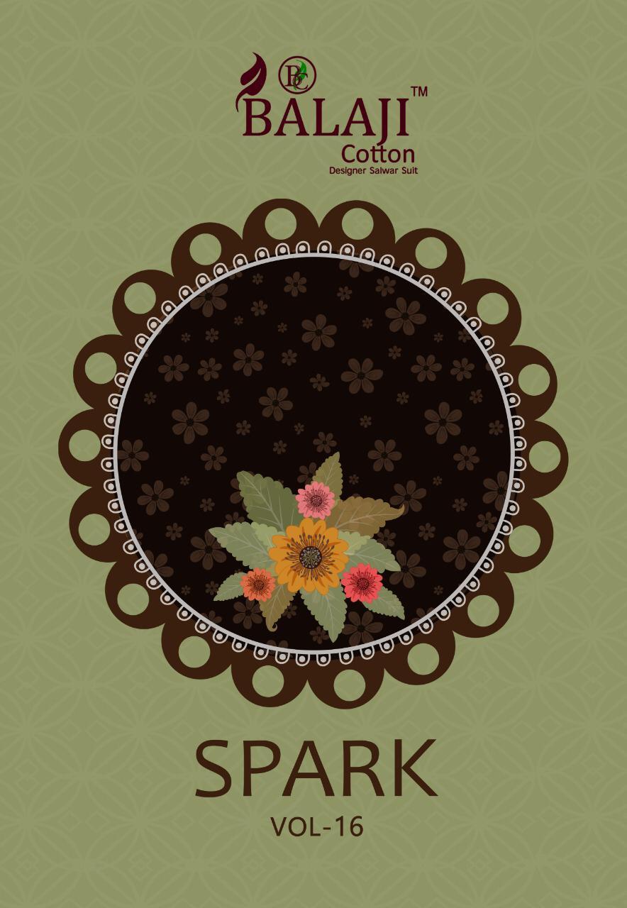 Balaji Spark Vol-16 Series 1601-1616 Pure Cotton Suit