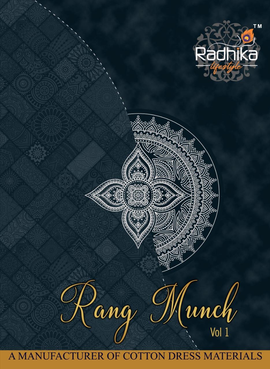 Radhika Rang Munch Vol-1 Series 1001-1012 Pure Cotton Suit